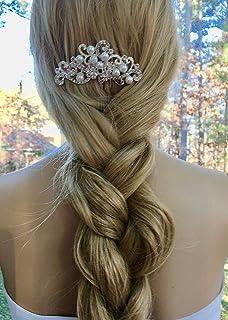 Bridal Wedding Comb, Pearl Art Deco Headpiece, Great Gatsby Downton Abbey Comb