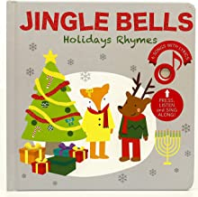 Cali's Books Jingle Bells and Favorites Holidays Nursery Rhymes Sound Book - Press, Listen and Sing Along! Best Interactive and Educational Gift for Baby and Toddler: Girl and boy