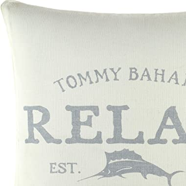 Tommy Bahama Relax Throw Pillow, 18x18, Grey