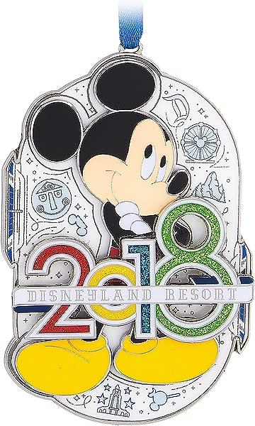 Disneyland 2018 Mickey Mouse Metal Ornament
