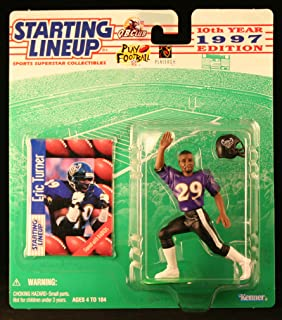 Starting Lineup ERIC Turner / Baltimore Ravens 1997 NFL Action Figure & Exclusive NFL Collector Trading Card