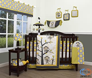 GEENNY Boutique Baby 13 Piece Nursery Crib Bedding Set, Monkey Go Happy