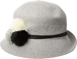 Collection XIIX - Three Fur Poms Packable Cloche