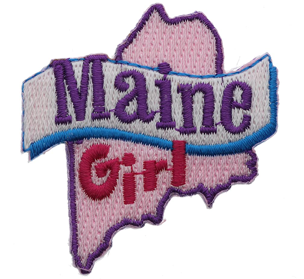 Maine girl 2 inch small Iron on Patch Ava2418