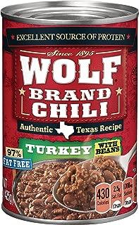 wolf brand turkey chili nutrition