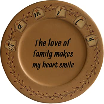 Multi CWI Gifts 11.5 Faith Will Light The Way Wood Display Plate