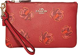 Red Apple Floral Print/Gold