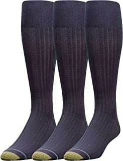 Gold Toe Men's Canterbury Over-The-Calf Dress Socks, 3 Pairs