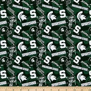 Sykel Enterprises NCAA- Michigan State 1178 Tone on Tone Dark Green/White, Fabric by the Yard