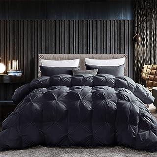 Grandeur Linens Luxurious Goose Down Comforter Duvet Insert, Premium Pinch Pleat Design, 1200 Thread Count 100% Egyptian C...
