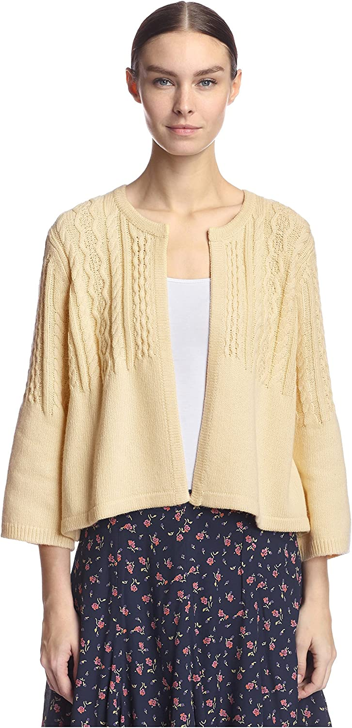 ByTiMo Women's Cable Open Cardigan