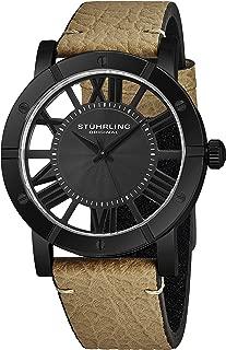 Mens Watch Leather Strap - Swiss Quartz Ronda Mvmt - Sports Watch - 881 Watches for Men Collection