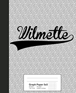 Graph Paper 5x5: WILMETTE Notebook