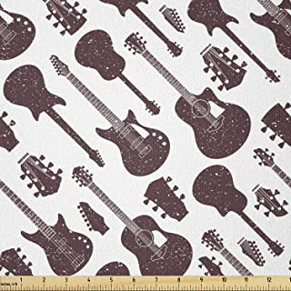 2 styles Guitar fabric FQ rock country band music cotton quilting crafting sewing Fabric Fat Quarter
