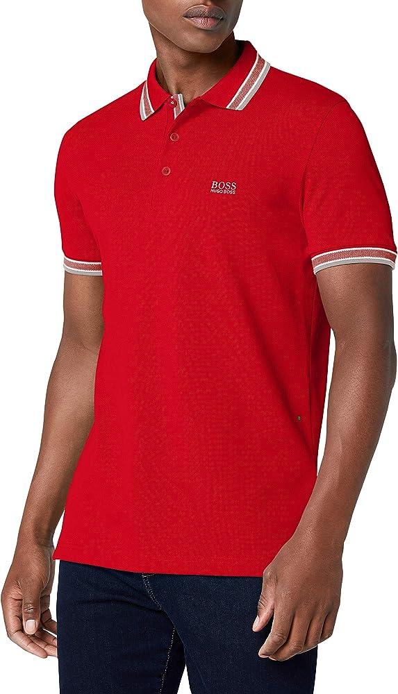 hugo boss paddy polo,maglietta per uomo,100% cotone,taglia l 1010294301
