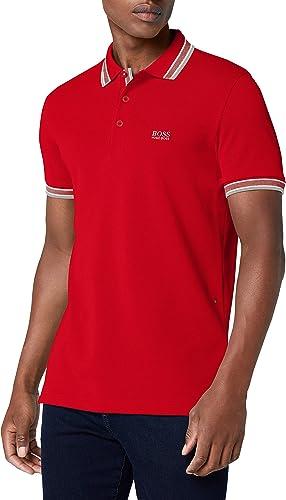 Paddy De T-shirt Polo Classique De Hugo Boss vert Hommes 50198254 XXL Rouge