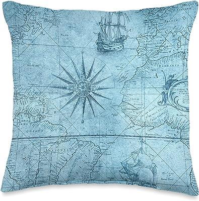 Puget Sound Indoor Outdoor Nautical Chart Throw Pillow Home Kitchen