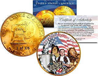 1976 WIZARD OF OZ 24K Gold Plated IKE Dollar Each Coin Serial Numbered of 376