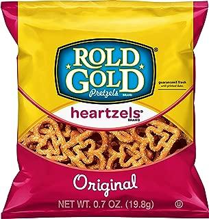 Rold Gold Heartzels Heart Shaped Pretzels, 0.7 Ounce (Pack of 104)