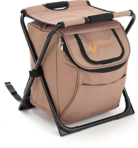 new arrival Folding Stool 3 in 1 Fishing Backpack Fishing Backpack Chair Seat with Cooler Bag wholesale Compact Folding Hiking Camping Stool Portable 2021 Insulated Cooler Picnic Bag Beach Chair Backpack Stool Heavy Duty online