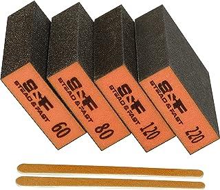 Sanding Sponge, 60 80 120 220 Coarse Medium Fine Grit Sanding Blocks, Sander Sponges for Drywall Metal, Sandpaper Sponge S...