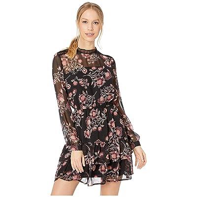 BB Dakota Whiskey Tango Printed Dress (Black) Women