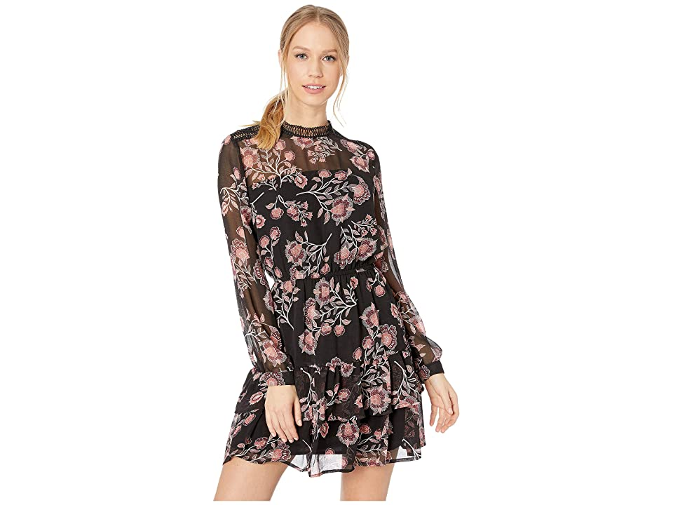 BB Dakota Whiskey Tango Printed Dress (Black) Women