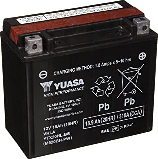 Yuasa YTX20HL-BS-PW Performance Battery