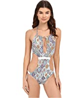 Red Carter - Braided High Cali Neck Monokini One-Piece