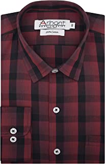 Arihant Checkered 100% Cotton Full Sleeves Regular Fit Formal Shirt for Men