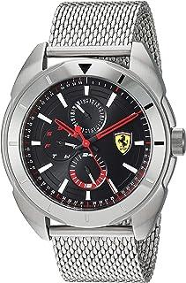 Ferrari Men's Forza Quartz Watch with Stainless Steel Strap, Silver, 22 (Model: 0830637)