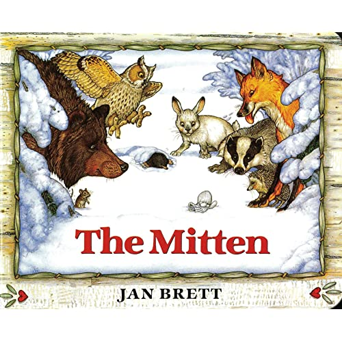 photo about The Mitten Printable Book named The Mitten: Jan Brett: 9780399231094: : Guides