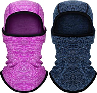 2 Pieces Kids Balaclava Windproof Ski Face Covering for...