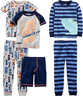 Baby, Little Kid, and Toddler Boys' 6-Piece Snug Fit...