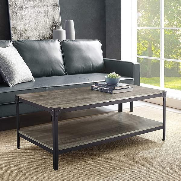 WE Furniture AZ46AICTSG Coffee Table Slate Gray