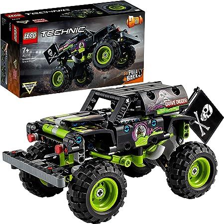 LEGO 42118 Technic MonsterJamGraveDigger - Camion-Jouet et Un Buggy Tout-Terrain Se transforment, Jeu de Construction 2 en 1