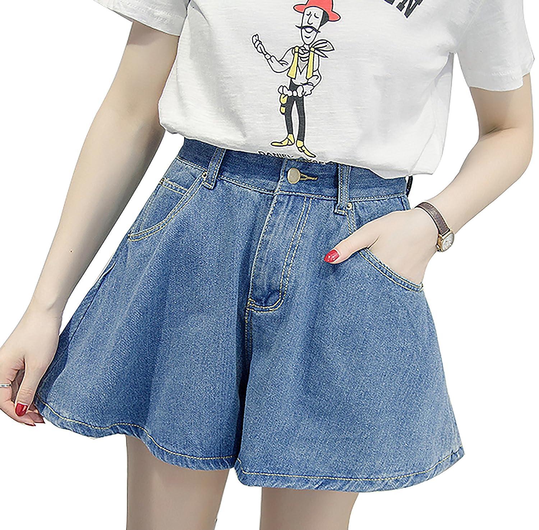 (アイユウガ)I-YUUGA  キュロットスカート デニム ショートパンツ レディース  aライン ミニスカート プリーツスカート フレアスカート ショーパン ハーフパンツ ハイウエスト 春