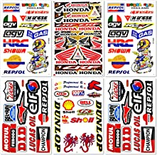 Dirt Bike MotoGP Motocross Motorcycles Bikes ATV Parts Race Accessories Sponsor Garage Toolbox Racing Motos Logo Helmet Sheet Grafitti Kit Pack 6 Vinyl Graphics Decal and Stickers Set D6722 Best4Buy