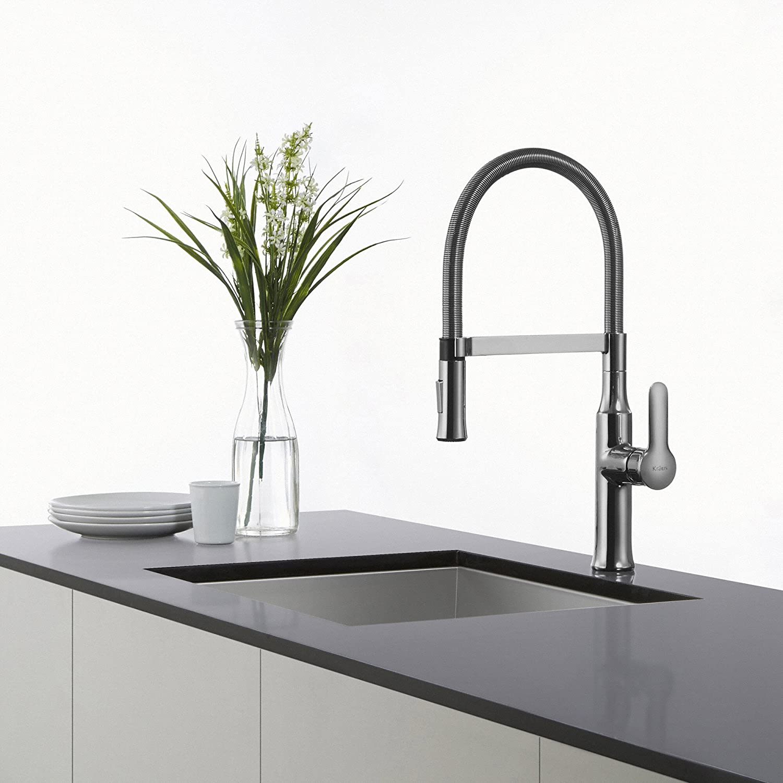 Kraus KPF-1612 Single Lever Pull Down Kitchen Faucet Chrome