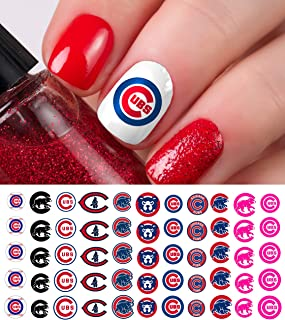 Chicago Cubs Baseball Waterslide Nail Art Decals - Salon Quality