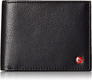 RFID Safe Mens Leather Bifold Passcase Wallet 2-in-1 Card Case