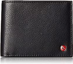 Alpine Swiss RFID Safe Mens Leather Bifold Passcase Wallet 2-in-1 Card Case