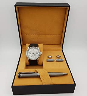 New Fande Watch Set For Men Analog Leather - NF01331