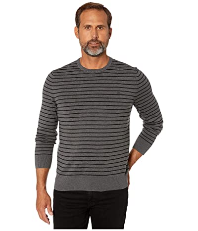 Calvin Klein Long Sleeve Crew Neck Cotton Silk (Steel Gray Heather) Men