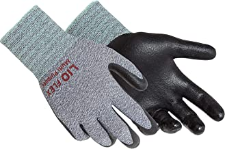 LIO FLEX Multi Purpose 15 Gauge Nylon Spandex NBR Foam Coated Working Gloves - Flexible, Durable, Breathable, Touch Screen, DMF Free - 3 Pairs, XXL