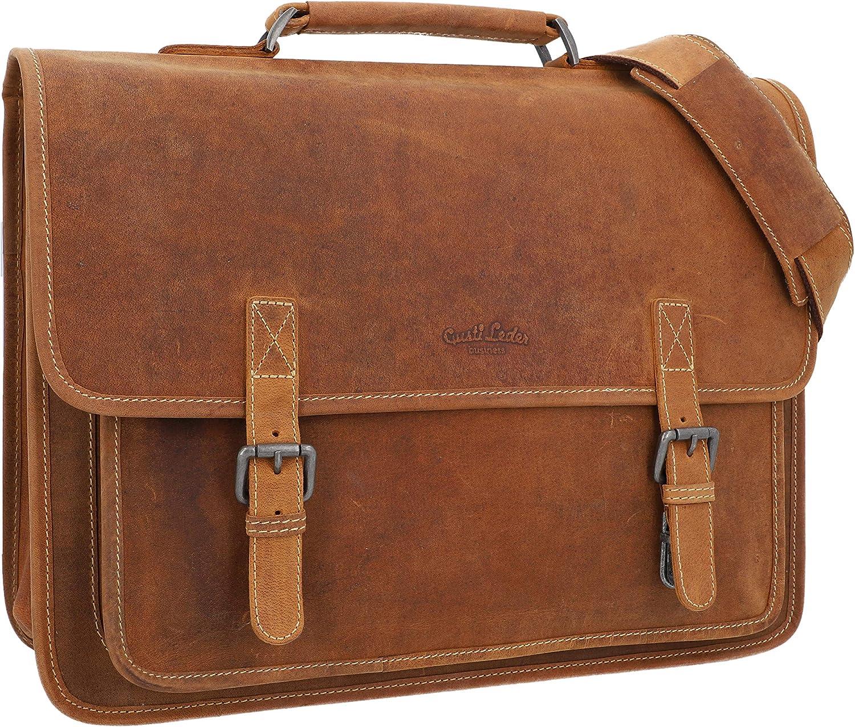 Gusti Messenger Bag Leather - Elmar Shoulder Bag Briefcase Lapto