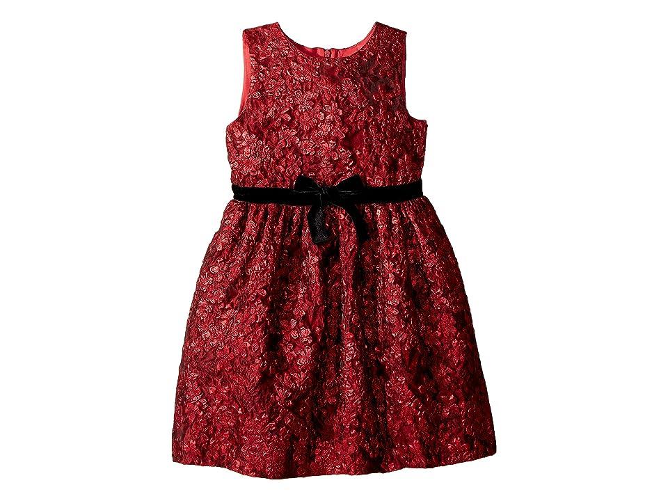 Oscar de la Renta Childrenswear Sleeveless Floral Dress (Little Kids/Big Kids) (Poppy Red) Girl