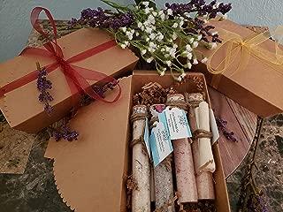 Gift Set of 4 Bath Salts by Five Sisters Bath Co. | Himalayan and Dead Sea Mineral Bath Salts for Soaking | Lavender & Oat, Grapefruit & Mint, Bergamot & Sandalwood, Hawaiian Black Lava Salt & Wild Ro
