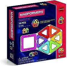 Magformers Basic Set (14-pieces) Magnetic Building Blocks, Educational Magnetic Tiles Kit , Magnetic Construction STEM Toy...