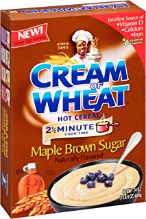 Cream of Wheat Maple Brown Sugar Hot Cereal, 2 1/2 Minute Cook Time, 24 Ounce (Pack of 12)